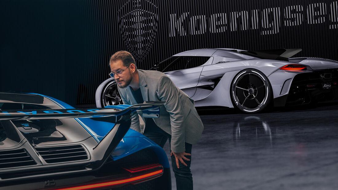 Kaltvergleich Genf 2020 Bugatti Chiron Pur Sport Koenigsegg Jesko