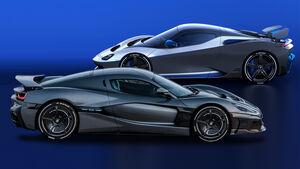 Kaltvergleich Genf 2020 Rimac C_Two Pininfarina Battista Anniversario