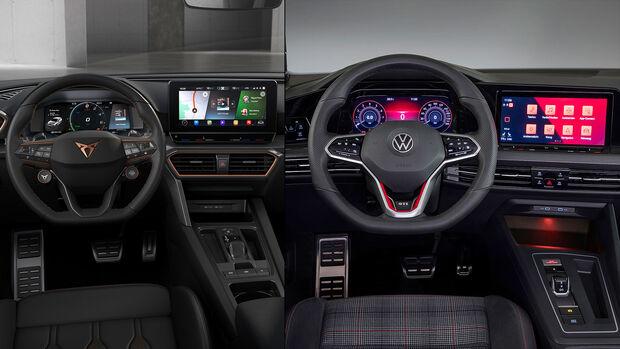 Kaltvergleich Genf 2020 VW Golf GTI Cupra Leon