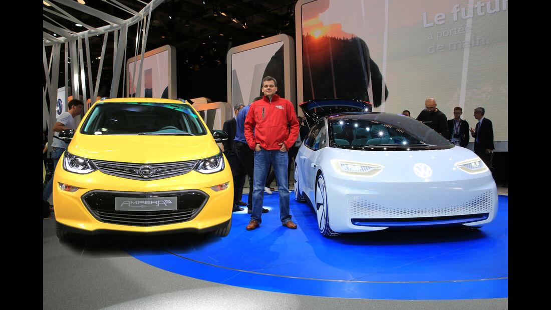 Kaltvergleich Opel Ampera E gegen VW ID