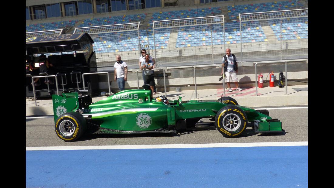 Kamui Kobayashi - Caterham - Formel 1 - Bahrain - Test - 2. März 2014
