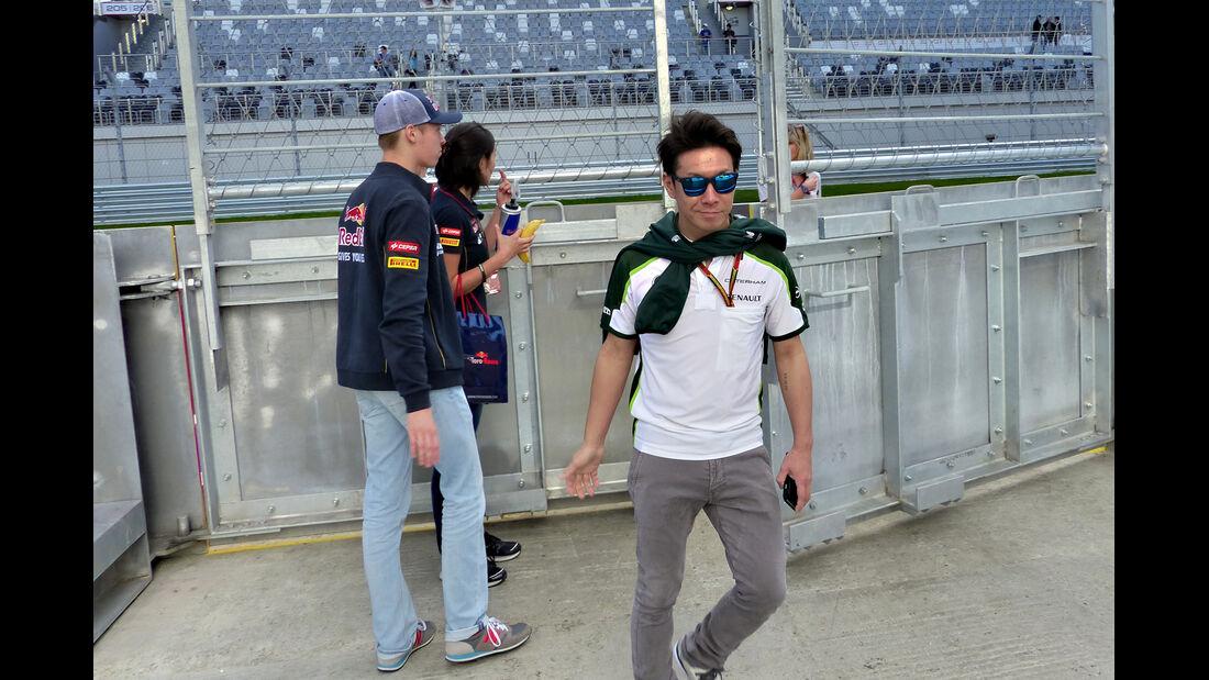 Kamui Kobayashi - Caterham - Formel 1 - GP Russland - Sochi - 9. Oktober 2014