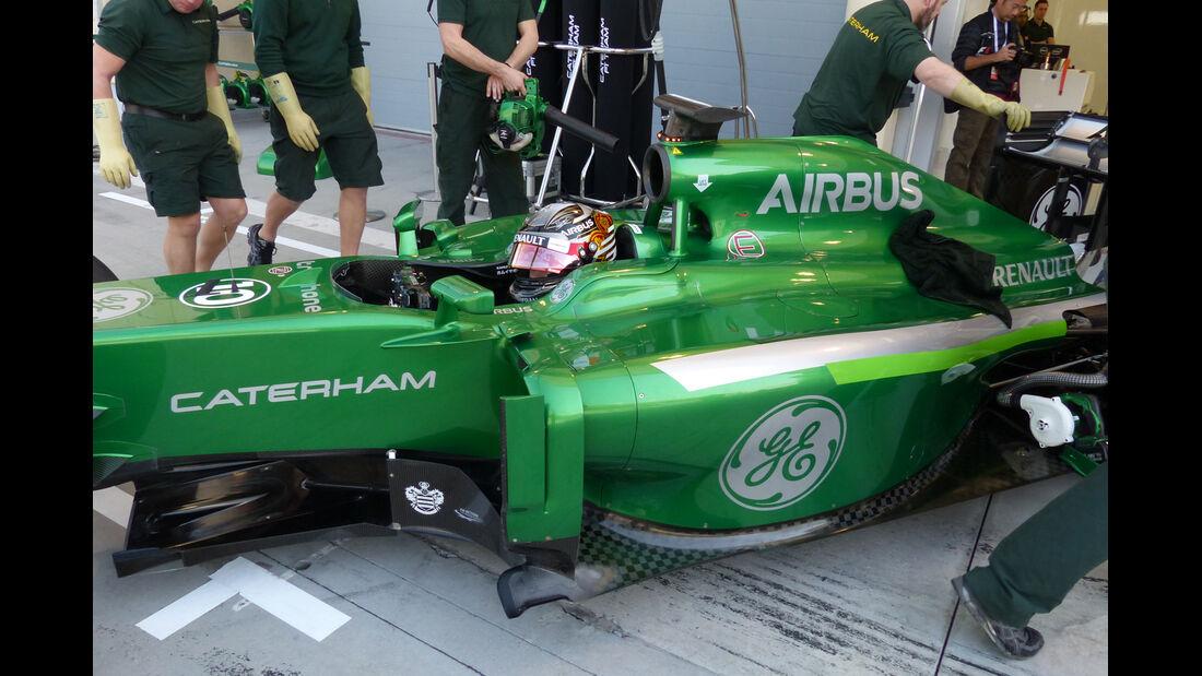 Kamui Kobayashi - Caterham - Formel 1 - Test - Bahrain - 20. Februar 2014
