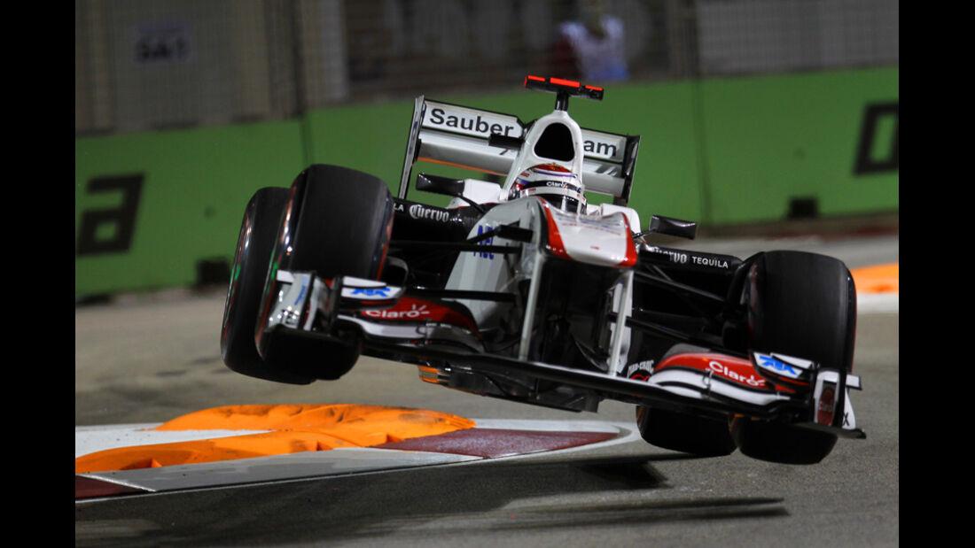 Kamui Kobayashi Crash GP Singapur 2011