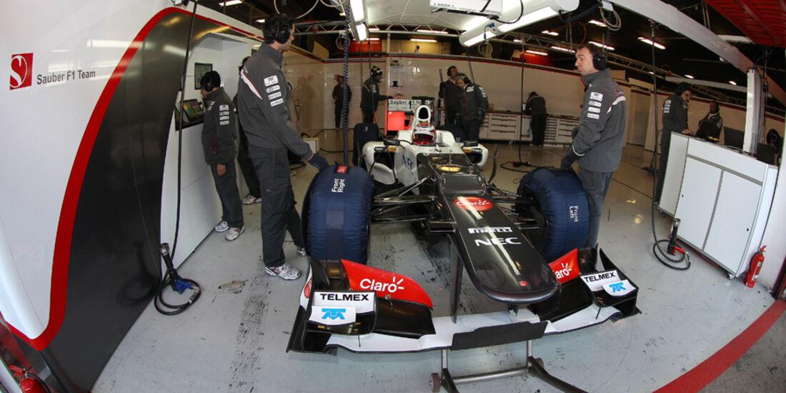 Kamui Kobayashi - F1-Test - Barcelona 2012