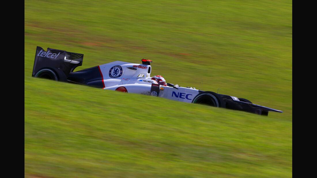 Kamui Kobayashi Formel 1 GP Brasilien 2012