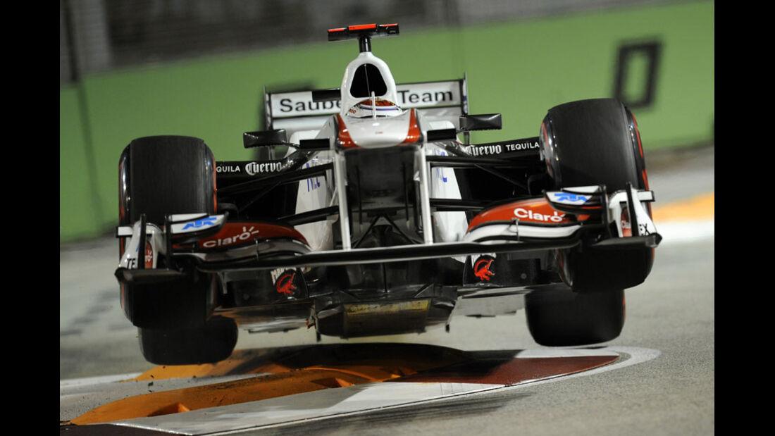 Kamui Kobayashi GP Singapur 2011