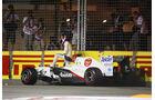Kamui Kobayashi GP Singapur Crashs 2011