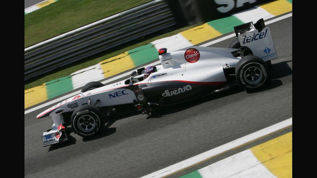 Kamui Kobayashi Sauber GP Brasilien