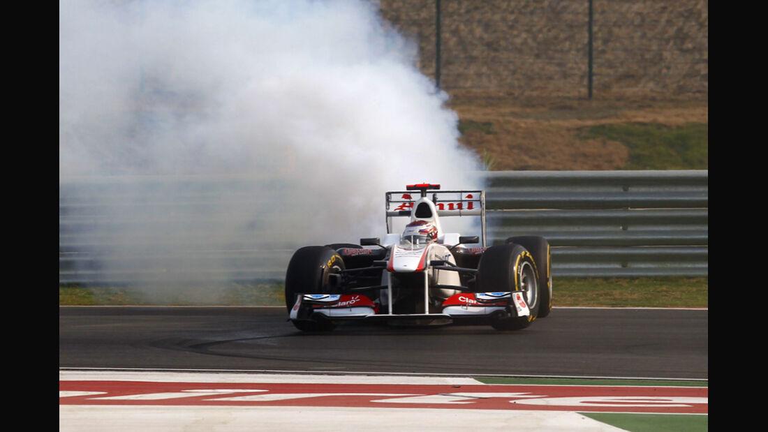 Kamui Kobayashi Sauber GP Indien 2011