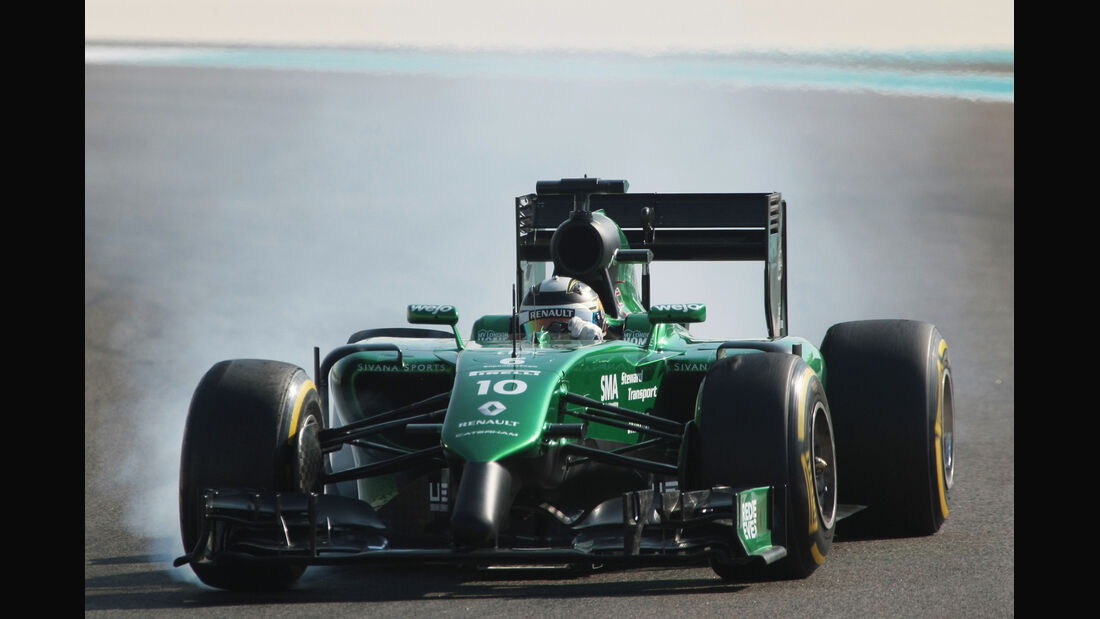 Kamui Kobyashi - Caterham - Formel 1 - GP Abu Dhabi - 21. November 2014