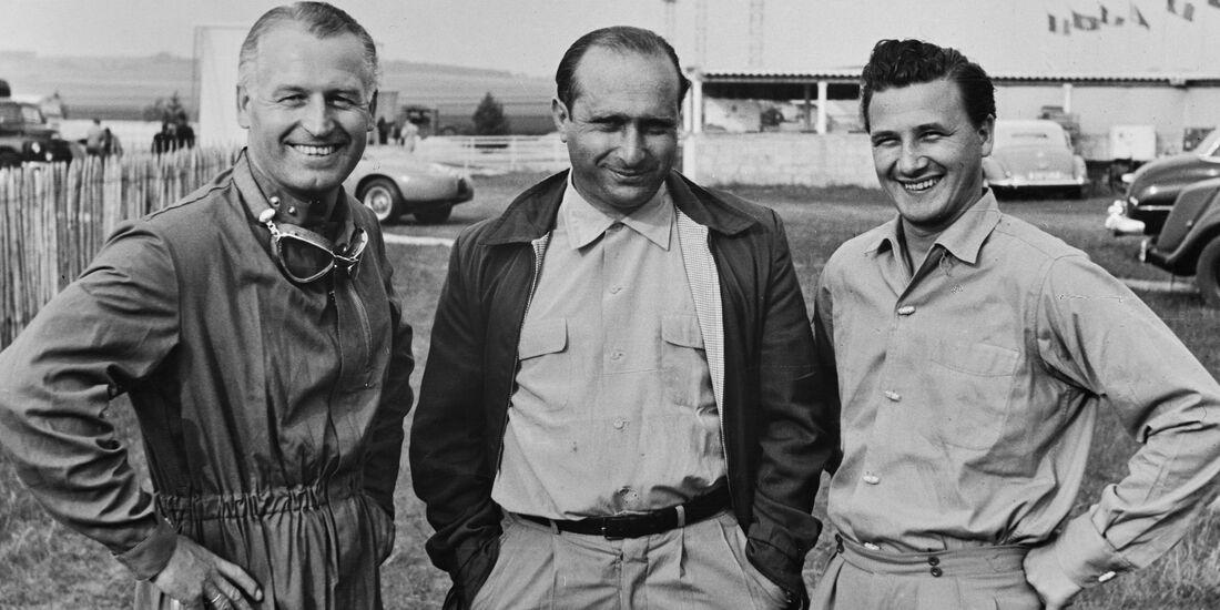 Karl Kling - Juan Manuel Fangio - Hans Herrmann - Mercedes - GP Frankreich 1954