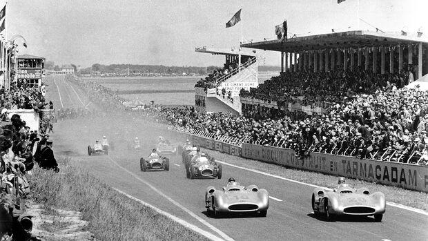 Karl Kling - Juan Manuel Fangio - Mercedes W 196 R - GP Frankreich 1954 - Reims