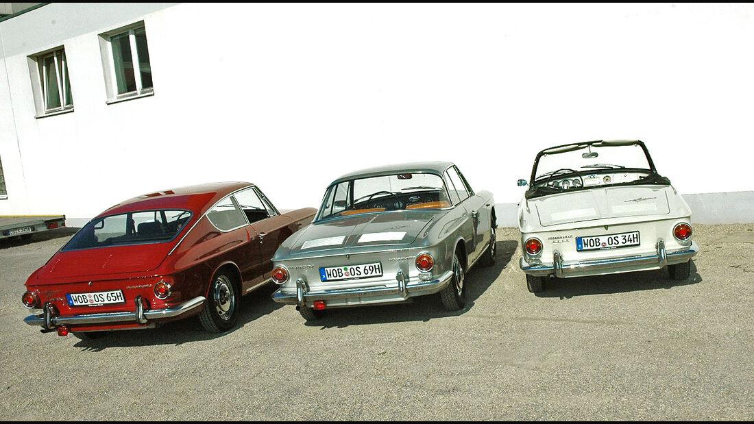 Karmann-Ghia Typ 34-Familie, Cabriolet, Coupé und Fließheck-Coupé