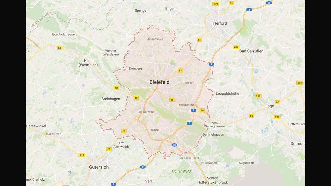 Karte Bielefeld