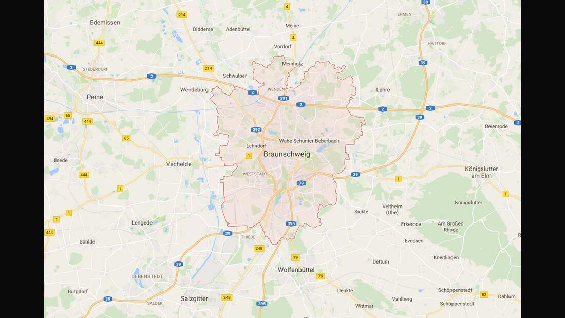 Karte Braunschweig