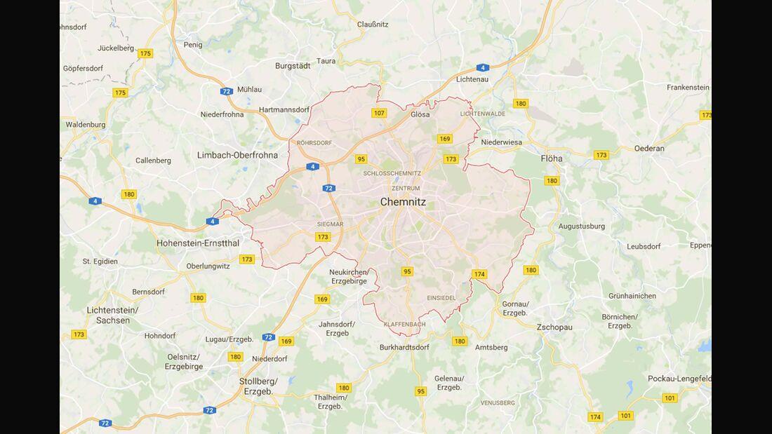 Karte Chemnitz