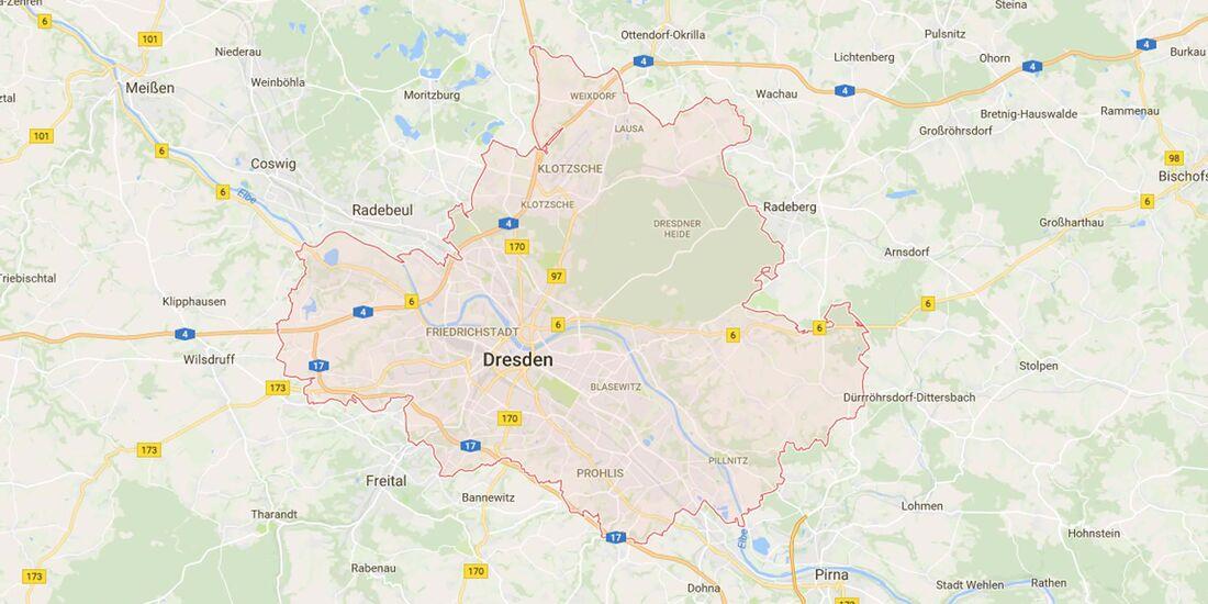 Karte Dresden