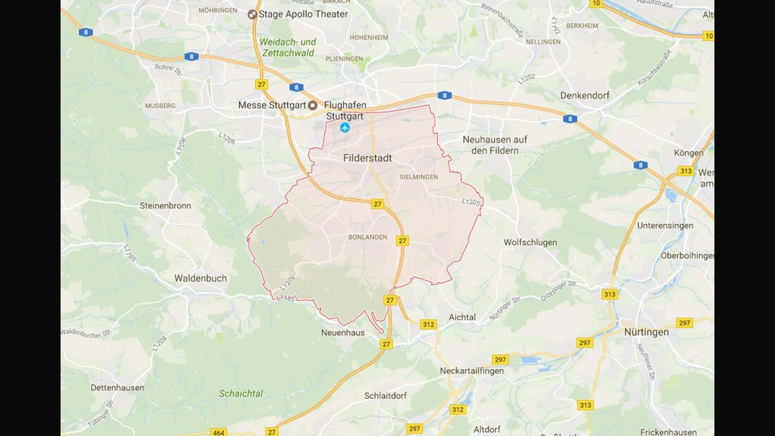 Karte Filderstadt