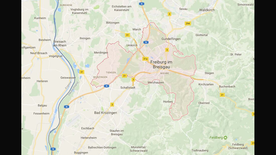 Karte Freiburg i. B.
