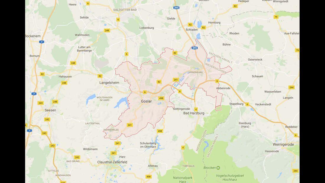 Karte Goslar
