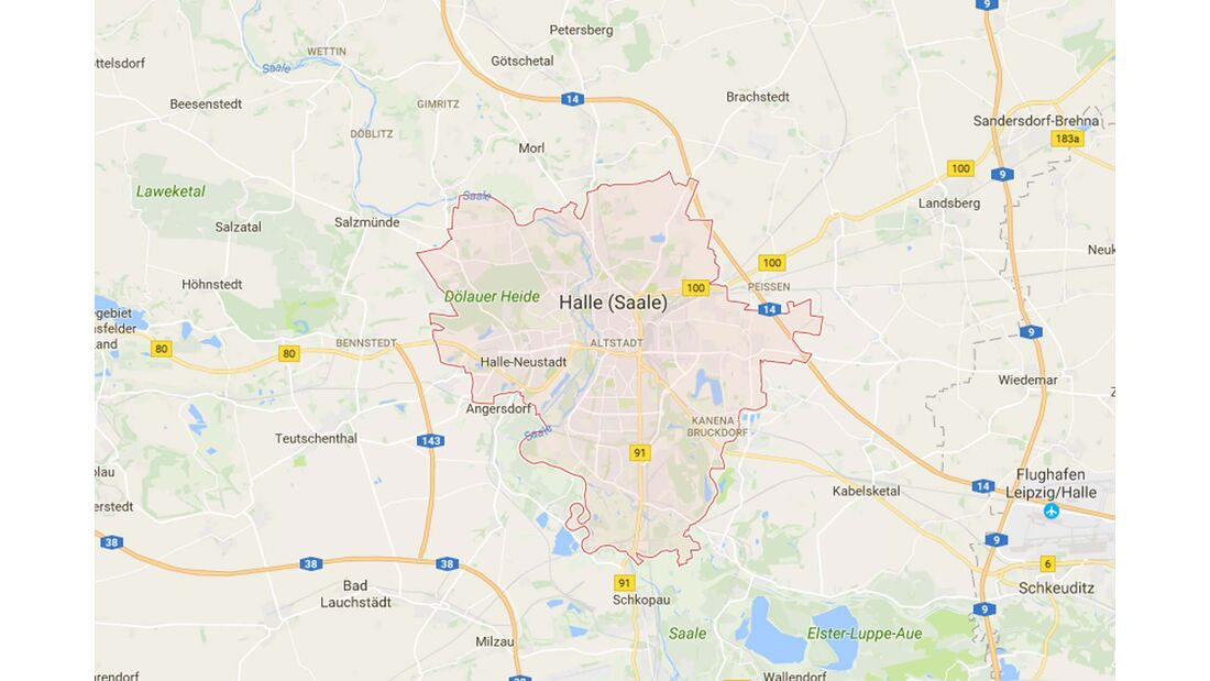 Karte Halle