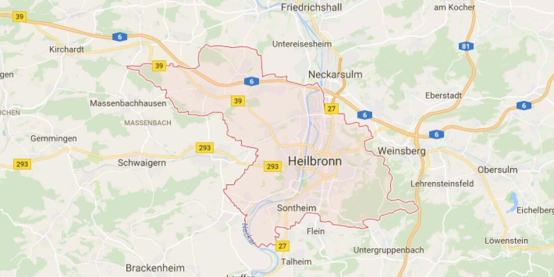 Karte Heilbronn