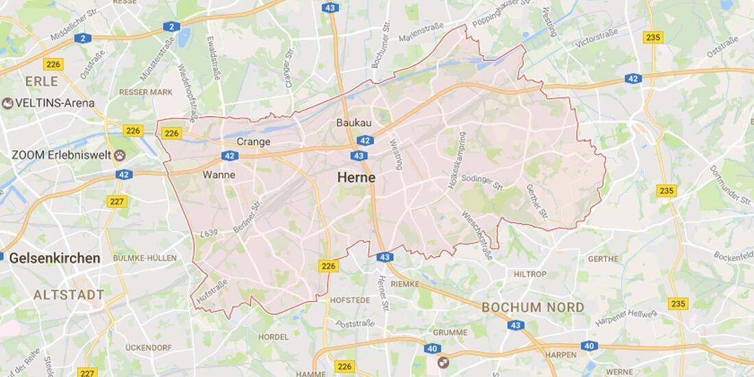 Karte Herne