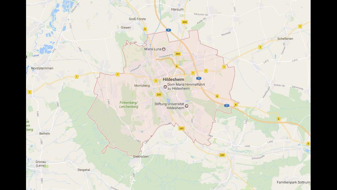 Karte Hildesheim