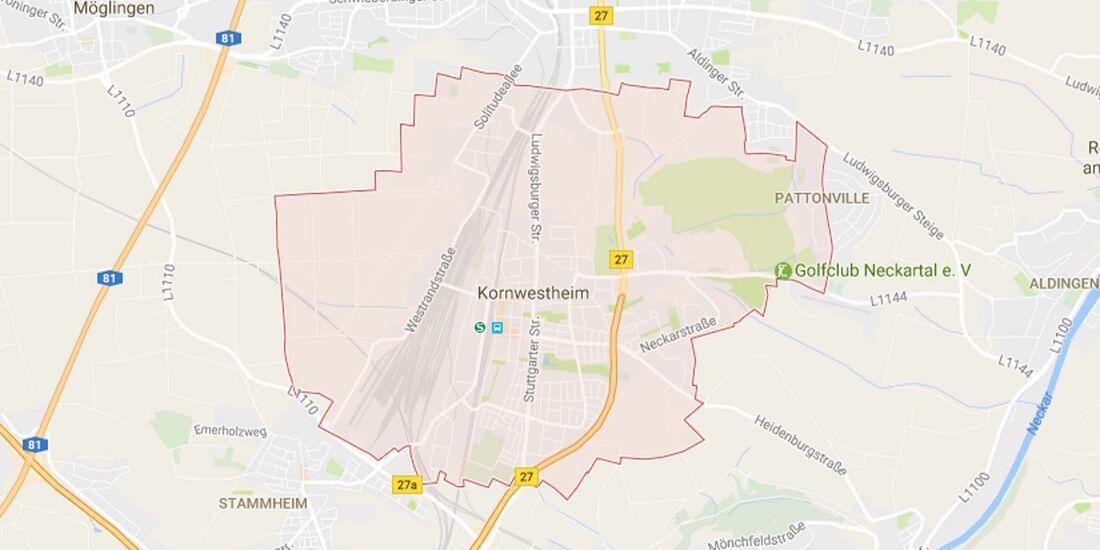 Karte Kornwestheim