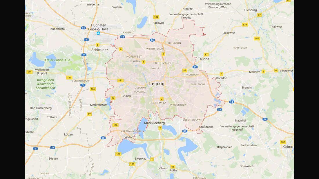 Karte Leipzig
