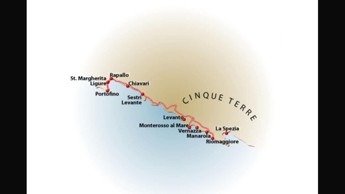 Karte Ligurien