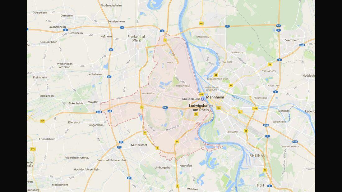 Karte Ludwigshafen a. R.