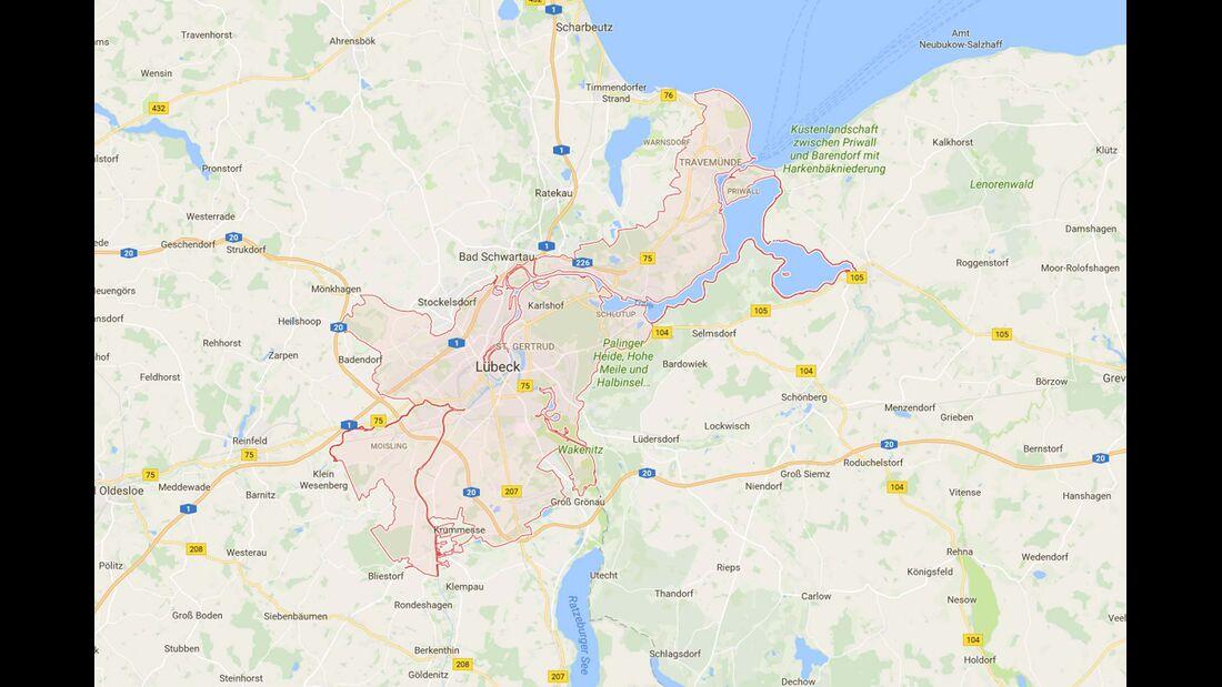 Karte Lübeck
