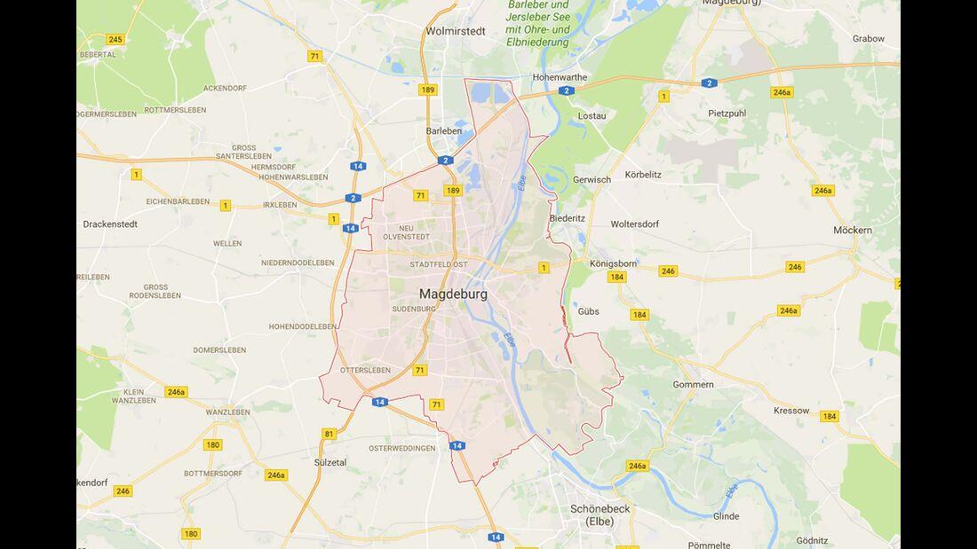 Karte Magdeburg