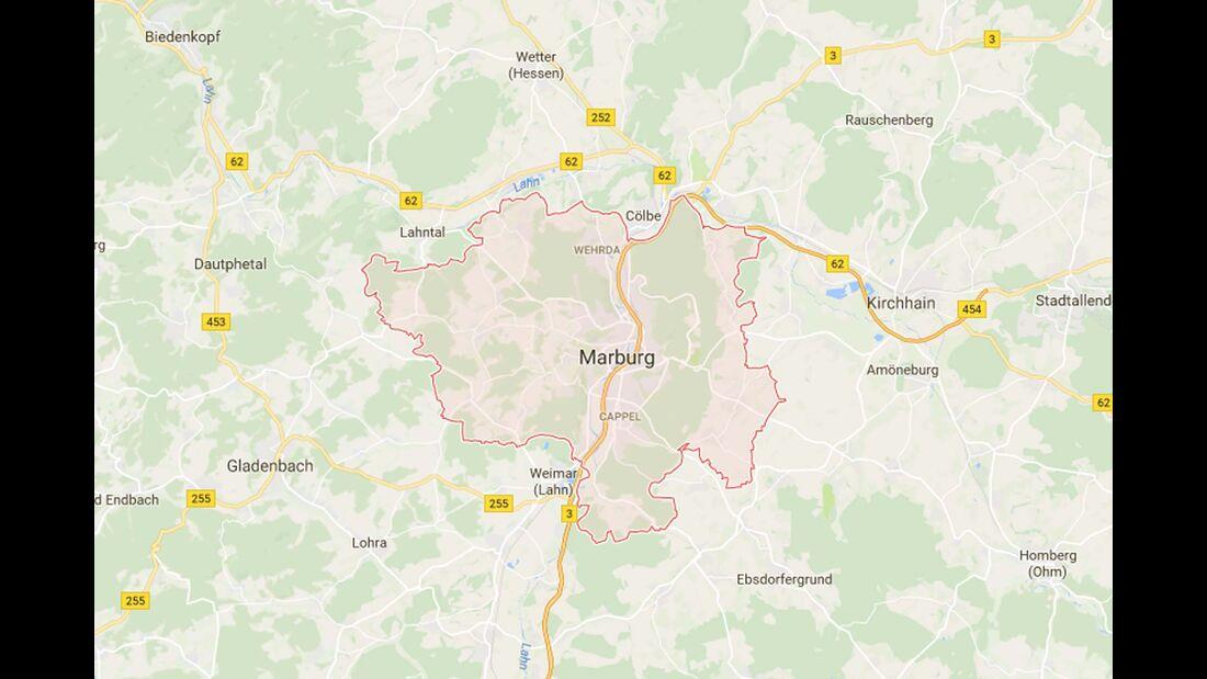 Karte Marburg