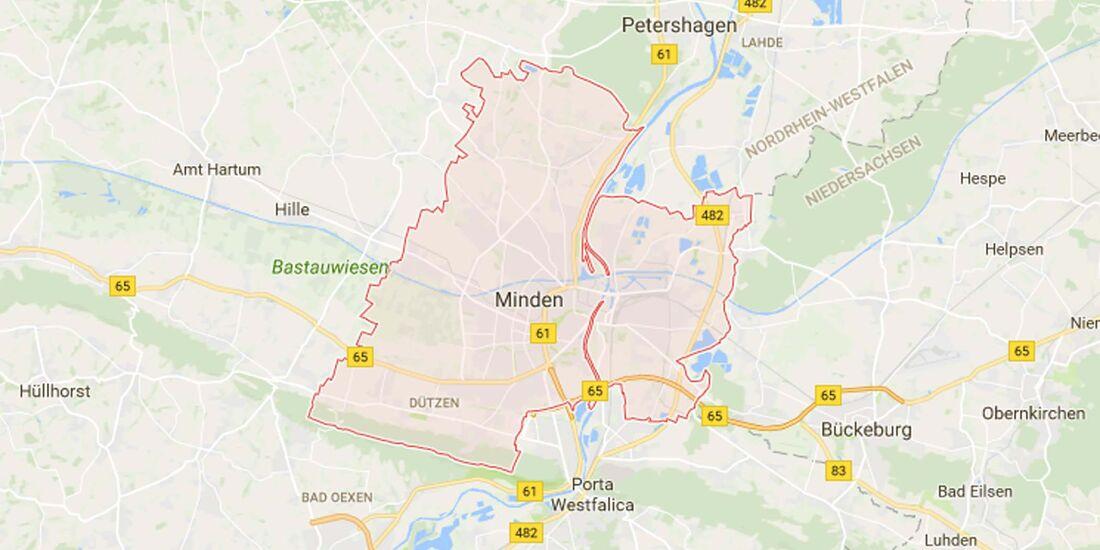 Karte Minden