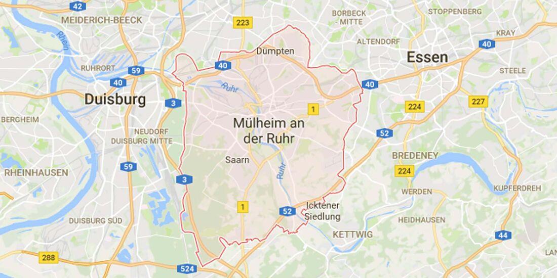 Karte Mühlheim a. d. R.