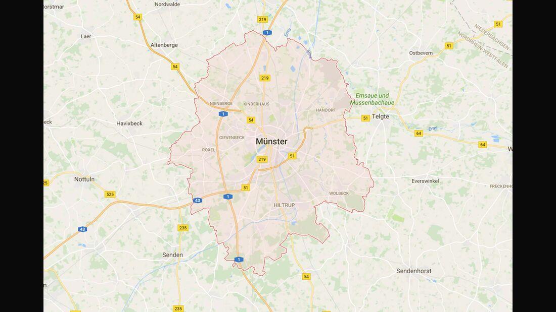 Karte Münster