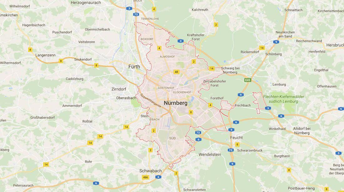 Karte Nürnberg