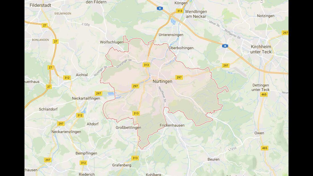 Karte Nürtingen