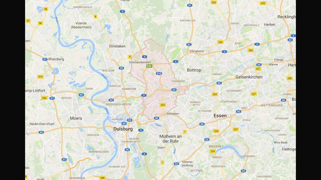 Karte Oberhausen