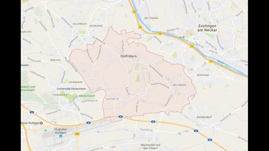 Karte Ostfildern