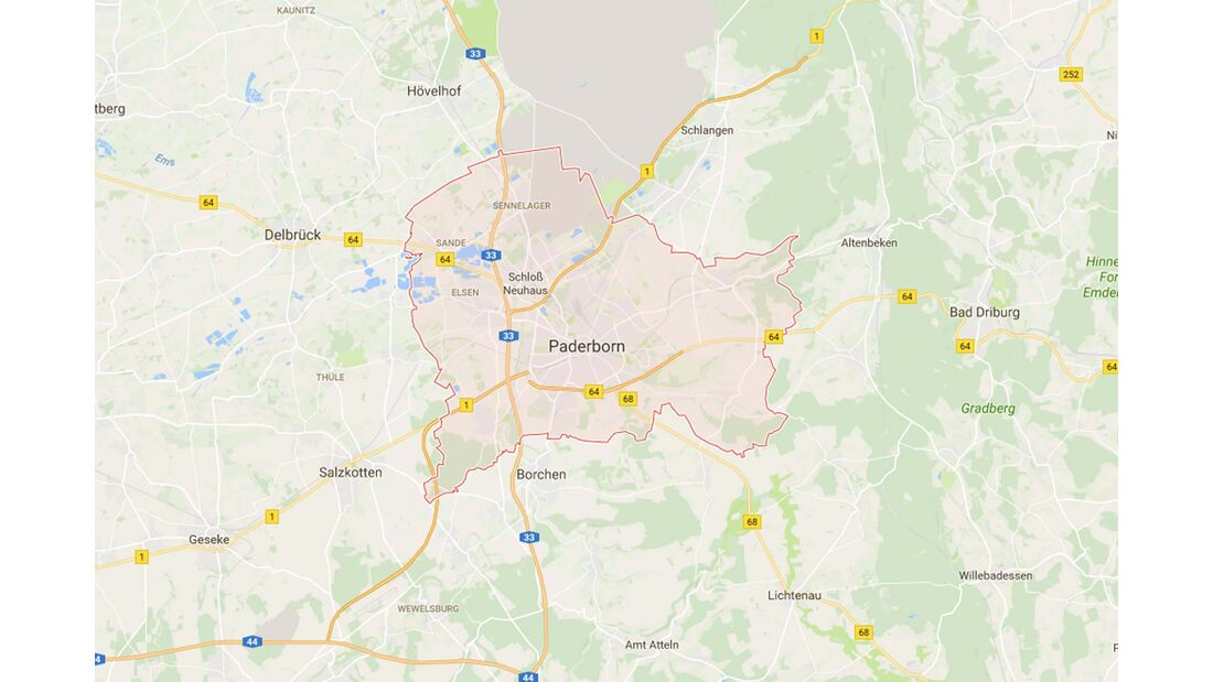 Karte Paderborn