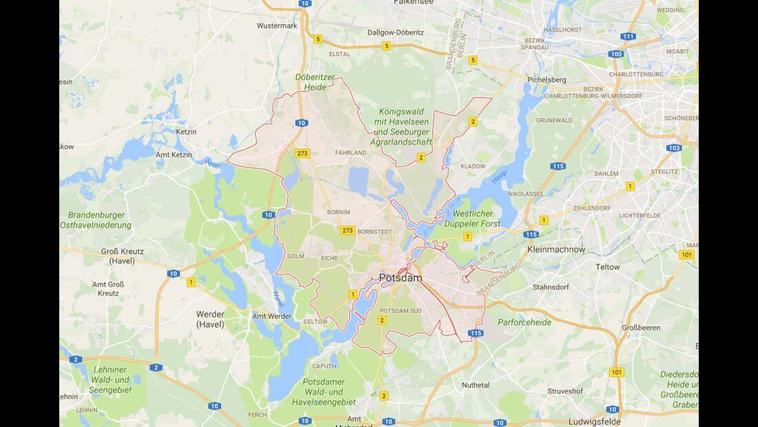 Karte Potsdam