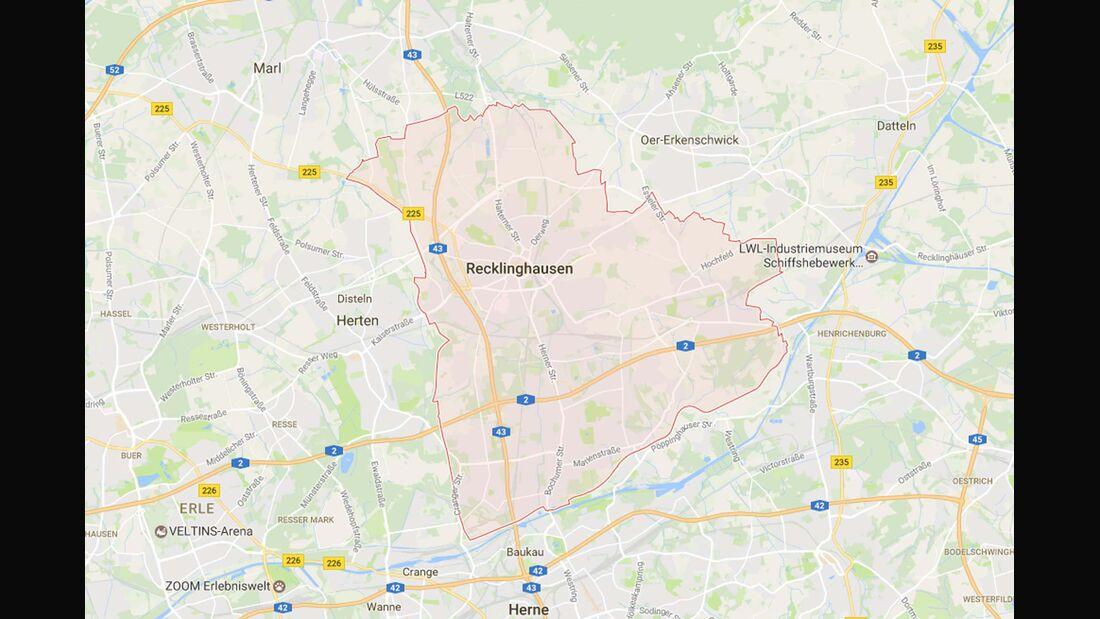 Karte Recklinghausen