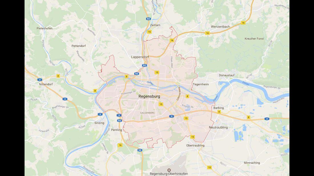 Karte Regensburg