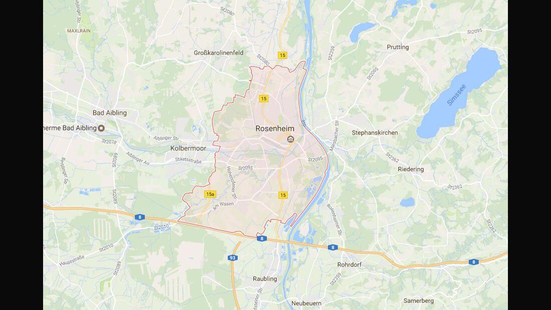 Karte Rosenheim