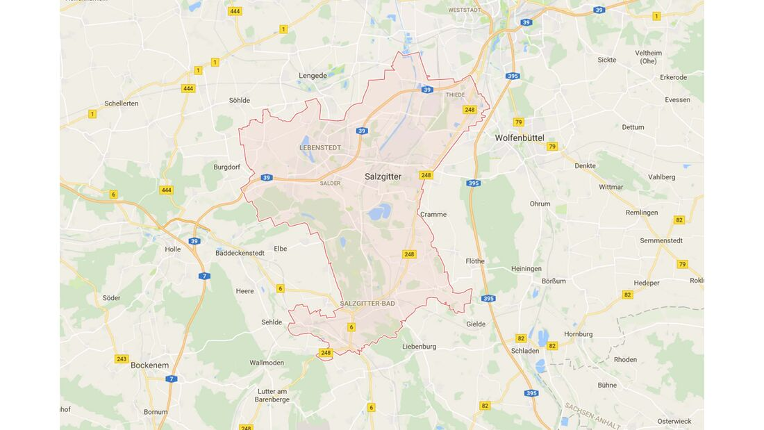 Karte Salzgitter