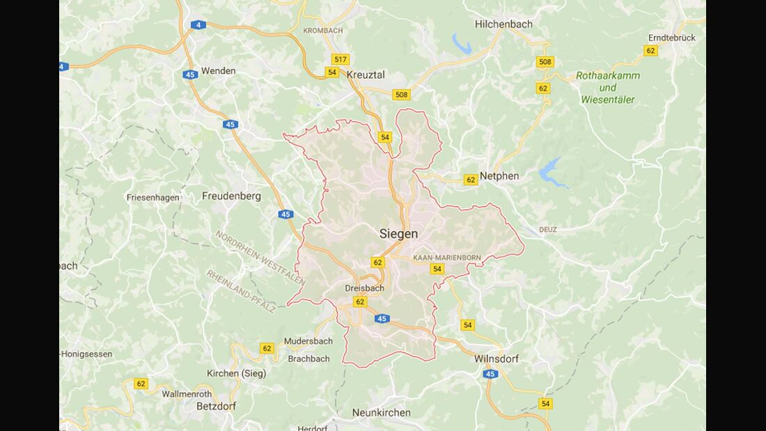 Karte Siegen